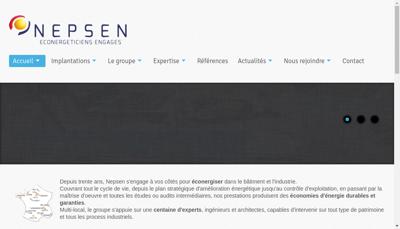 Capture d'écran du site de Aquiten