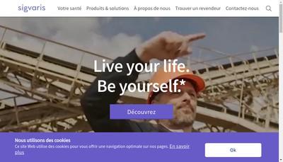 Site internet de Sigvaris