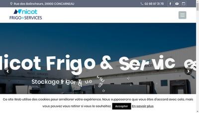 Site internet de Nicot Frigo & Services