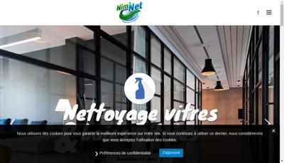 Capture d'écran du site de Nim Net