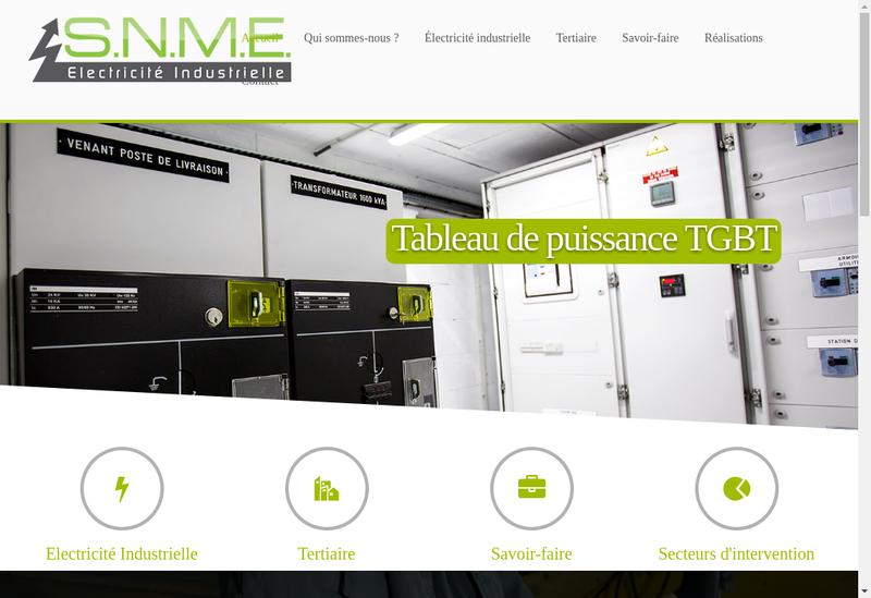 Capture d'écran du site de Societe Normande de Montage Electrique