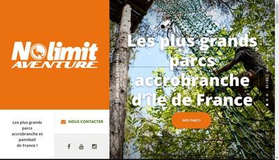 Site internet de Nolimit Aventure