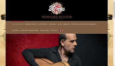 Site internet de Nomades Kultur Productions