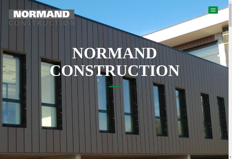 Capture d'écran du site de Normand Construction