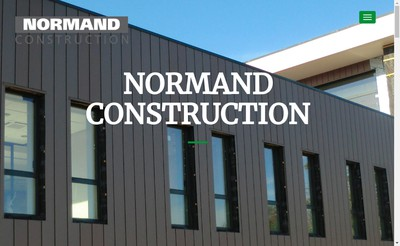 Site internet de Normand Construction