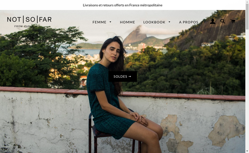 Capture d'écran du site de Not So Far