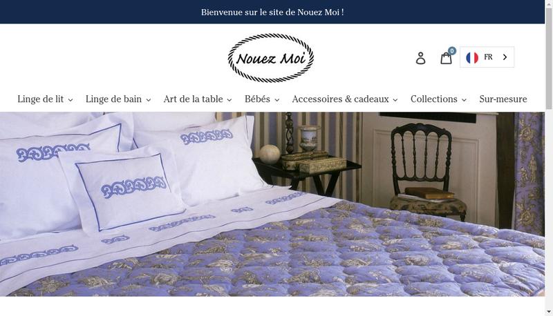 Capture d'écran du site de Nouez Moi