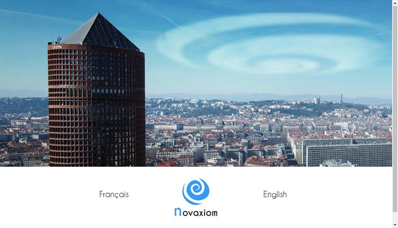 Capture d'écran du site de Novaxiom Developpement