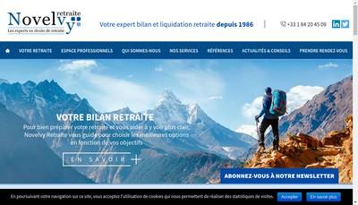 Site internet de Novelvy - Assistance Retraite