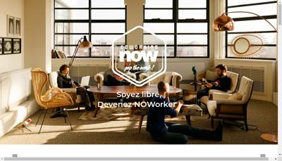 Capture d'écran du site de Now Coworking