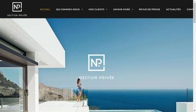 Site internet de Np Gestion Prive-Florent Paquez Finance