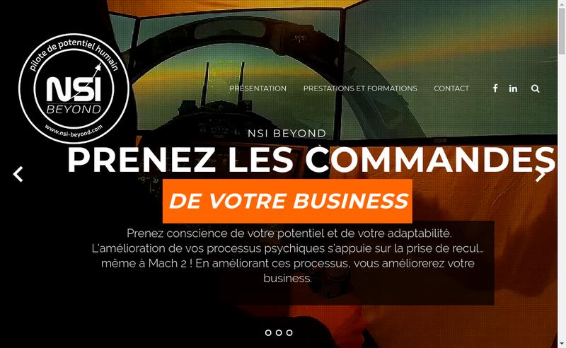 Capture d'écran du site de Nsi-Beyond