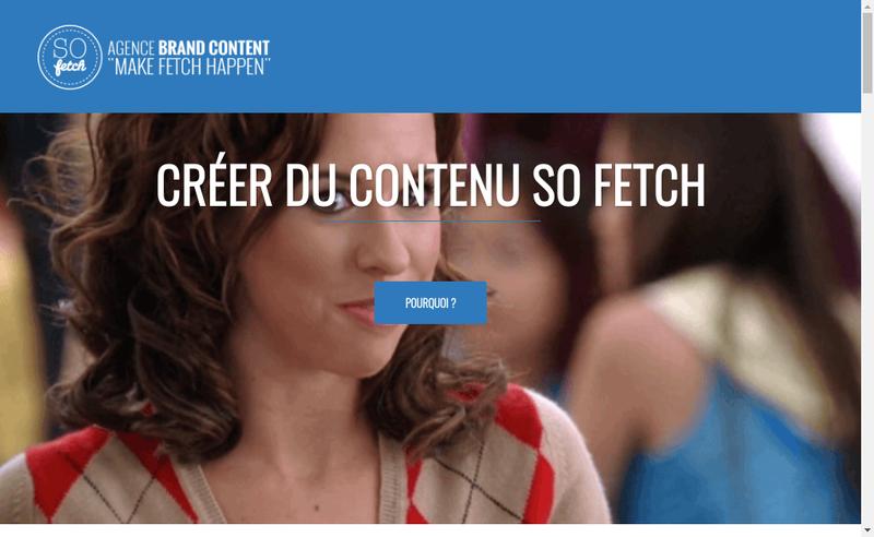Capture d'écran du site de So Fetch