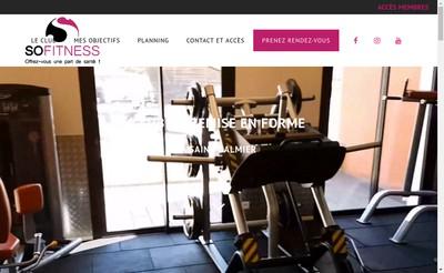 Site internet de So Fitness