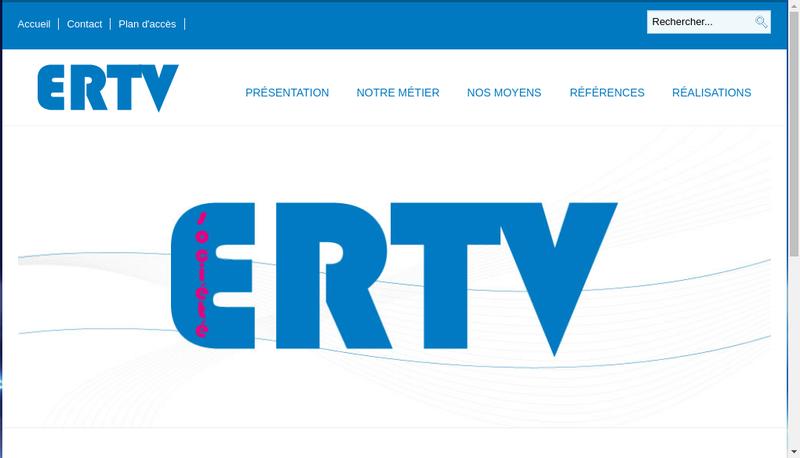 Capture d'écran du site de ERTV