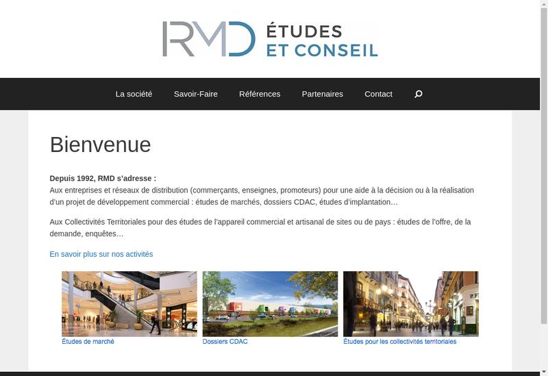 Capture d'écran du site de RMD