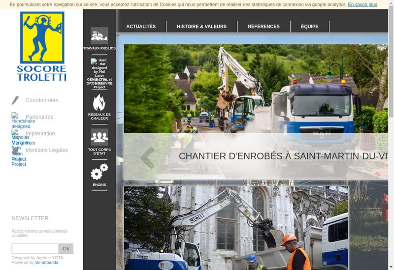 Capture d'écran du site de Socore-Troletti
