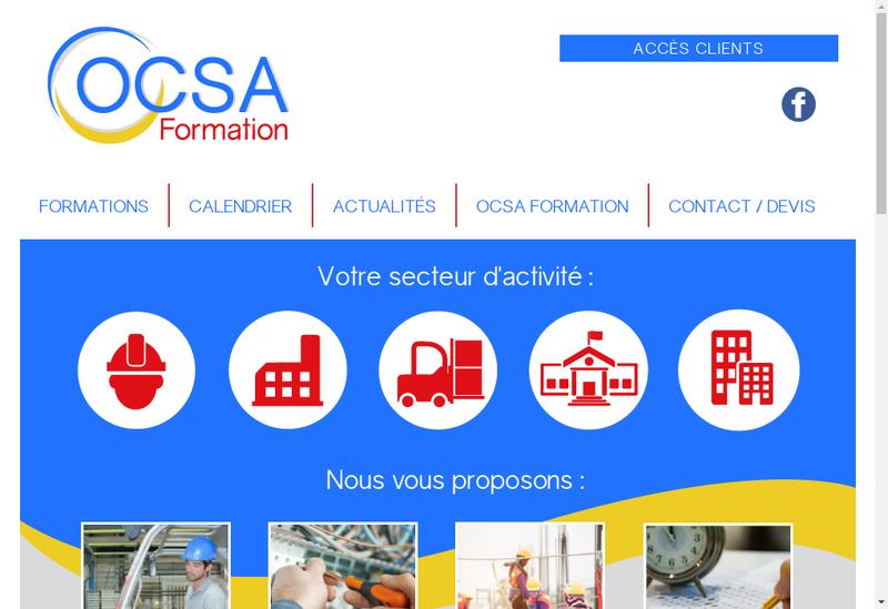 Capture d'écran du site de Ocsa Formation