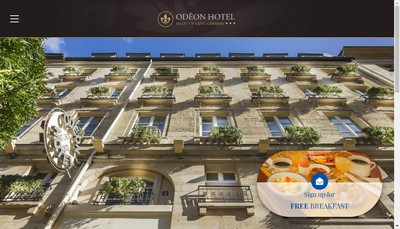Site internet de Odeon Hotel