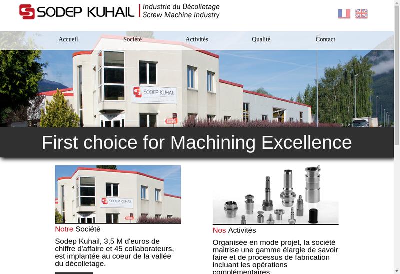 Capture d'écran du site de Sodep Kuhail