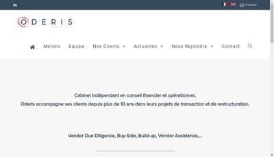 Site internet de Oderis