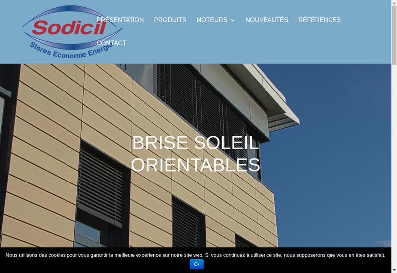 Capture d'écran du site de Sodicil