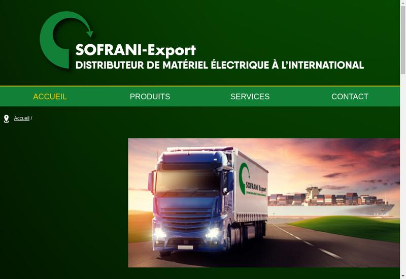 Capture d'écran du site de Sofrani Export