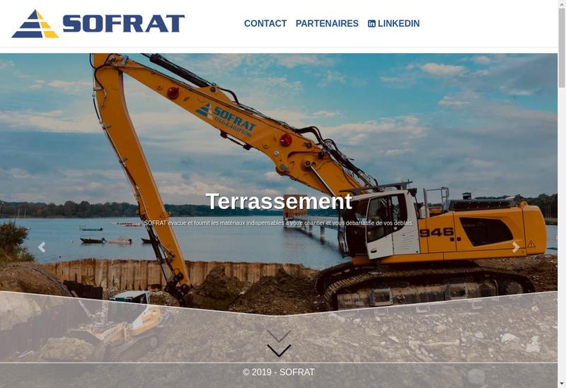 Capture d'écran du site de Societe Francilienne de Transports Sofrat