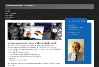 Capture d'écran du site de Sogea Picardie
