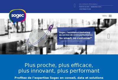 Capture d'écran du site de Sogec Informatique