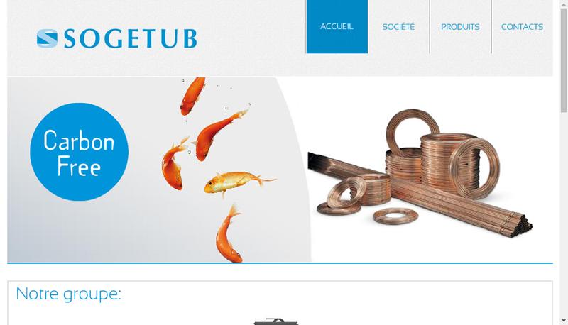 Capture d'écran du site de Sogetub