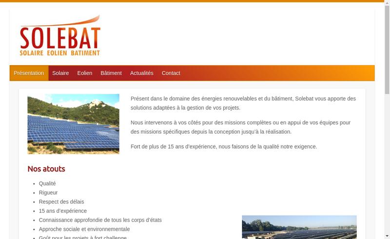 Capture d'écran du site de Vincent Tomasini