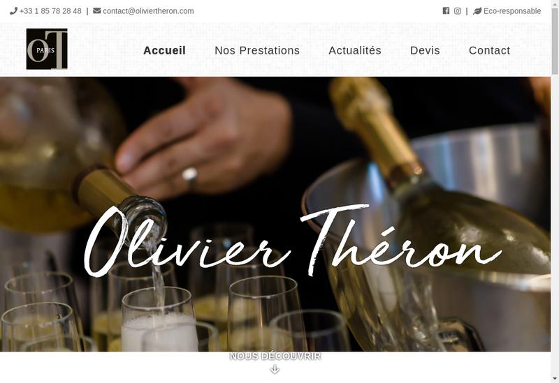 Capture d'écran du site de Olivier Theron - Traiteur & Evenements