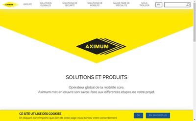Site internet de Aximum Produits Electroniques