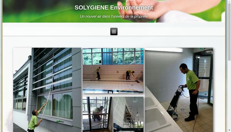 Capture d'écran du site de Solygiene Environnement