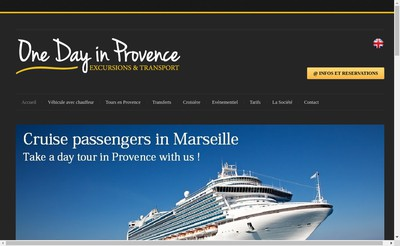Site internet de One Day In Provence