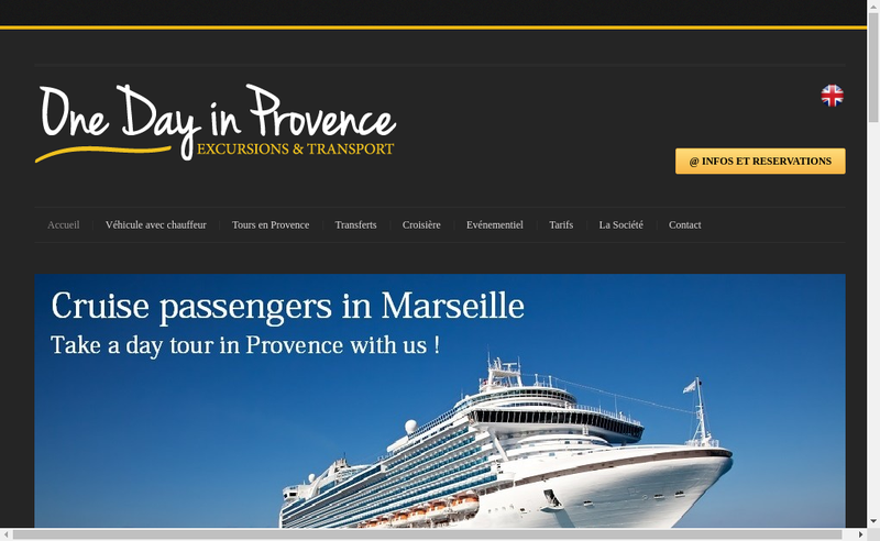 Capture d'écran du site de One Day In Provence