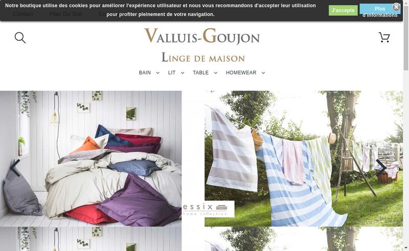 Capture d'écran du site de Valluis-Goujon
