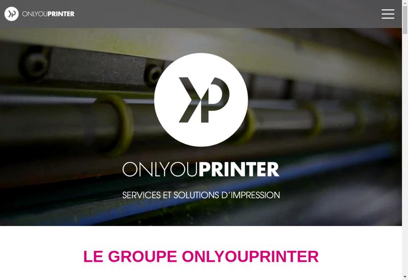 Capture d'écran du site de Onlyouprinter