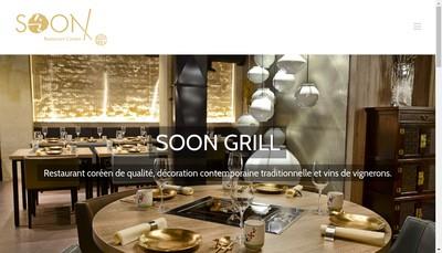 Site internet de Soon Grill