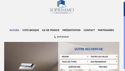 Site internet de Soprimmo