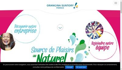 Site internet de Orangina Suntory France
