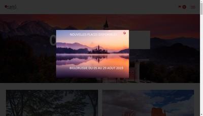 Site internet de Orcada Voyages - Destinea Voyages