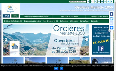 Site internet de Orcieres Labellemontagne
