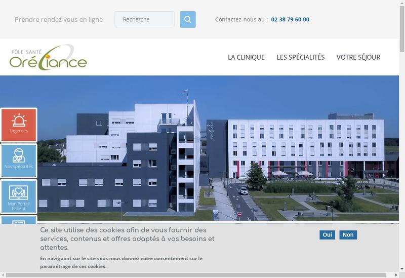 Capture d'écran du site de Les Longues Allees
