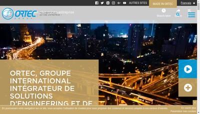 Site internet de Ortec Generale de Depollution