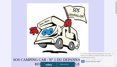 Capture d'écran du site de Sos Camping Car
