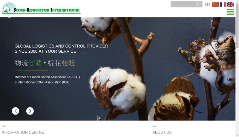 Capture d'écran du site de Sosea Robertson International