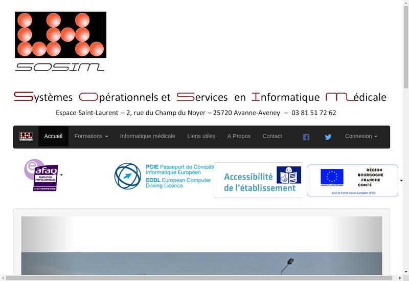 Capture d'écran du site de Systeme Operationnel Sce Informat Med