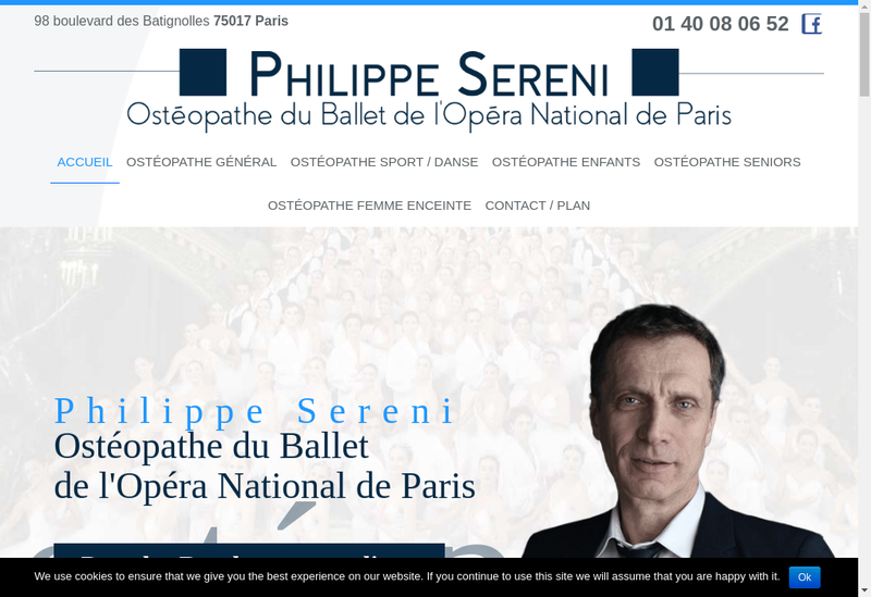 Capture d'écran du site de Philippe Sereni